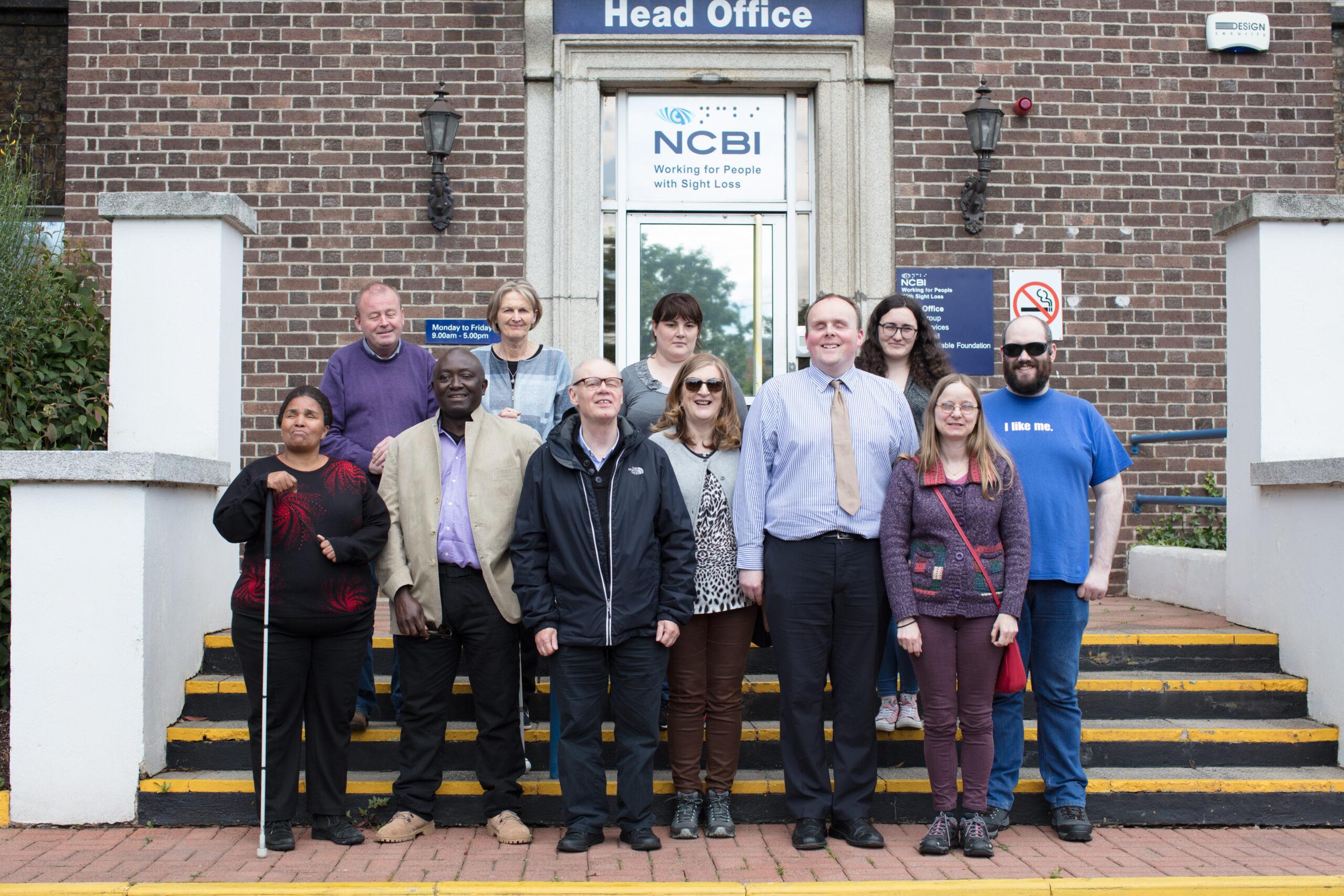 Group of 11 advocates outside NCBI head office