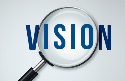 The word vision under a magnifying glass