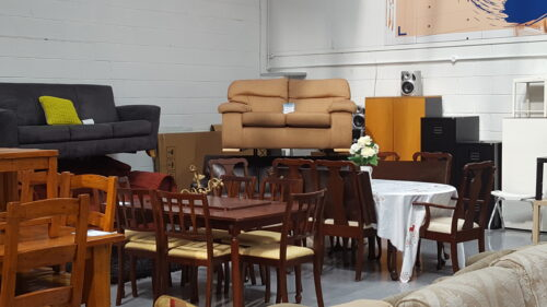 Photo of furniture in Kylemore wharehouse