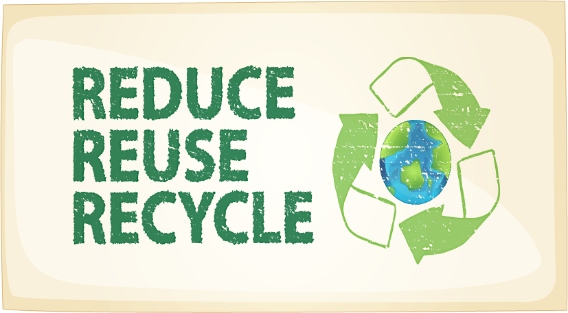 Banner: reduce, reuse, recycle
