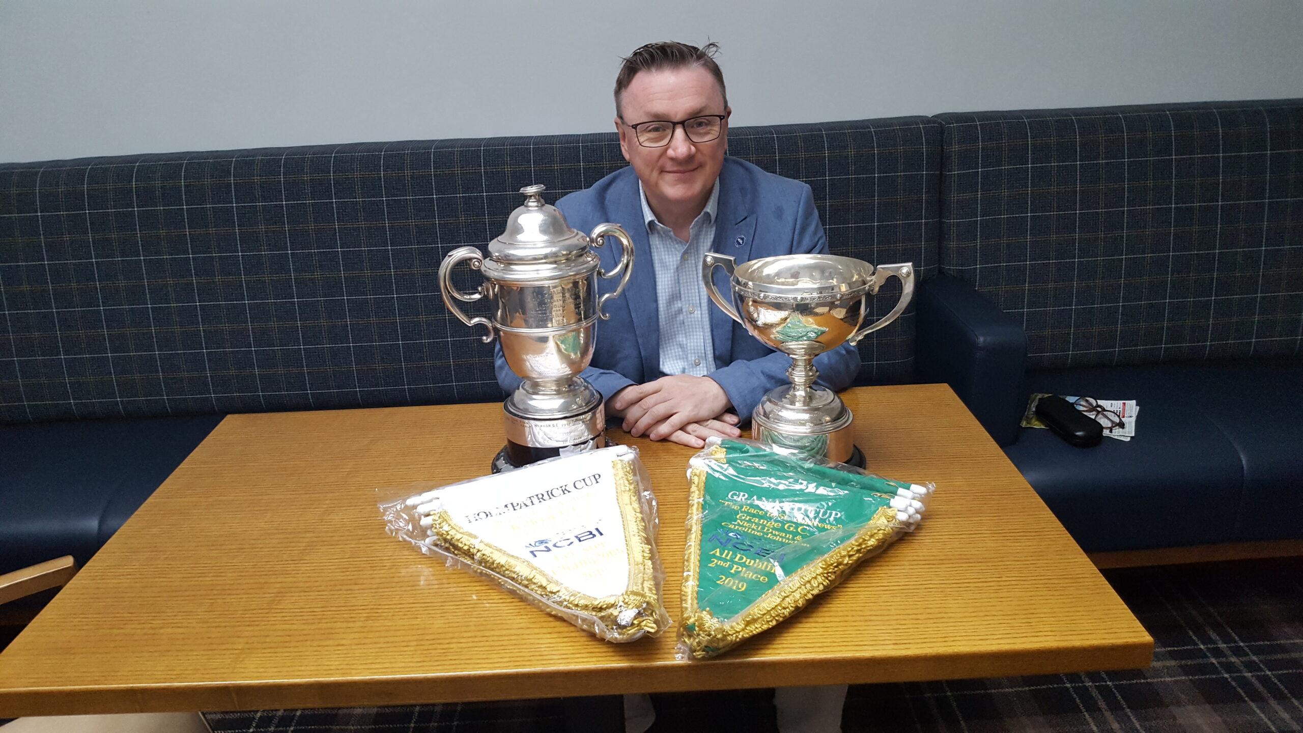 Ceo Chris White and the two Golf Cups