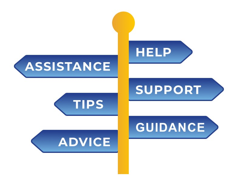 Support icon, Help, Support, Guidance, Assistance, Tips & Advice
