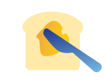 buttering bread daily living icon