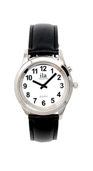 Talking Gents Watch with Leather Strap