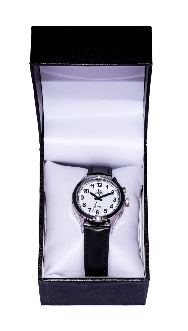 Talking Ladies Watch with Leather Strap