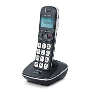 Emporia Big Button Cordless Phone in cradle