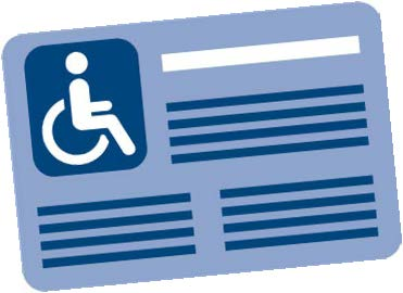 Disabled person parking icon