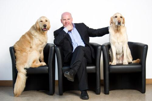 Sean Gallagher Guide Dog Shot on Sofa