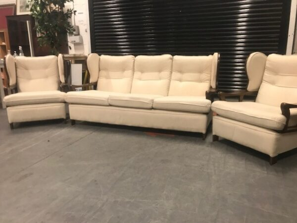 Retro Styled Three Seater & Two Armchairs