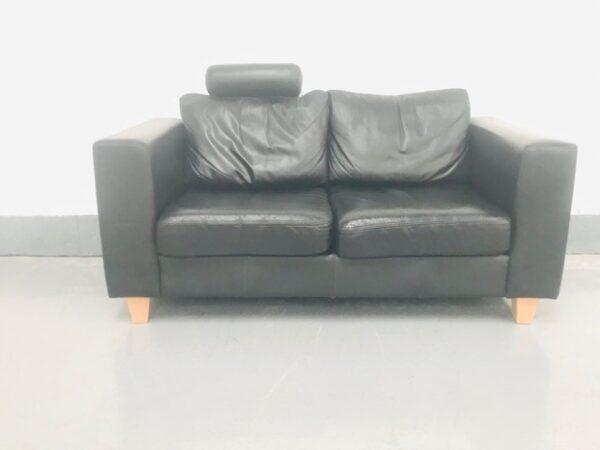 Black Two seated sofa